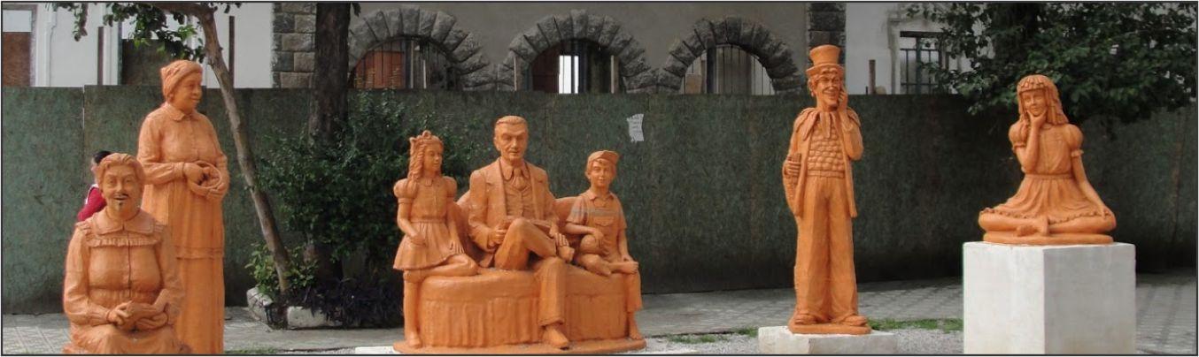 escultura dos personagens do sitio do pica pau amarelo em barro
